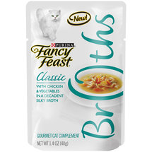 Purina Fancy Feast Broths Classic Chicken and Vegetables  Cat Food