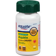 Equate Adult Low Dose Aspirin Pain Reliever (NSAID) Enteric Coated Tablets