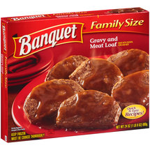 Banquet Gravy and Meat Loaf