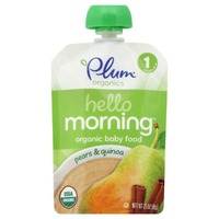 Plum Baby Hello Morning Pears & Quinoa Stage 1 Baby Food