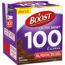 Boost Calorie Smart 100 Calories Rich Chocolate Balanced Nutritional Drink
