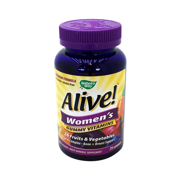 Nature's Way Alive! Women's Gummy Vitamins 26 Fruits & Vegetables - 75 CT