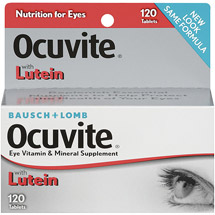 Ocuvite with Lutein Antioxidants & Zinc Tablets Vitamin & Mineral Supplement