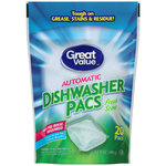 Great Value Powder Pacs Fresh Scent Dishwasher Detergent
