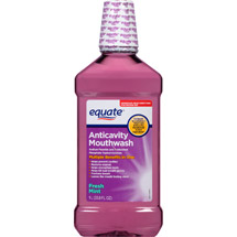 Equate Fresh Mint Anticavity Mouthwash