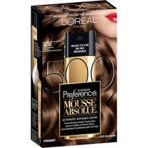 L'Oreal Paris Superior Preference Mousse Absolue Hair Color Kit 500 Pure Medium Brown 500 Pure Medium Brown