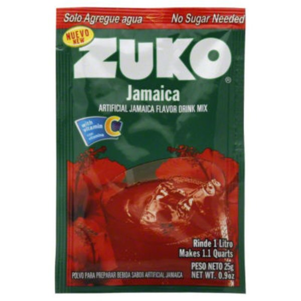 Zuko Drink Mix, Artificial Jamaica Flavor