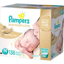 Pampers Premium Care Disposable Diapers Huge Box Premie