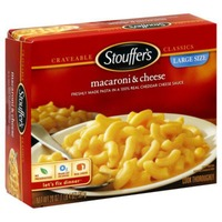 Stouffer's Satisfying Servings Freshly made pasta in a Real Cheddar cheese sauce Macaroni & Cheese