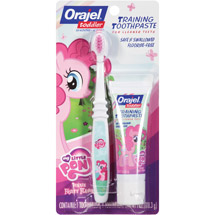 My Little Pony Toddler Training Toothpaste Pinkie Fruity and Toothbrush