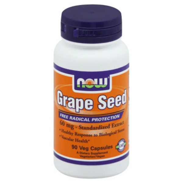 Now Grape Seed, 60 mg, Capsules