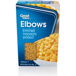 Great Value: Elbow Macaroni Enriched Macaroni Product