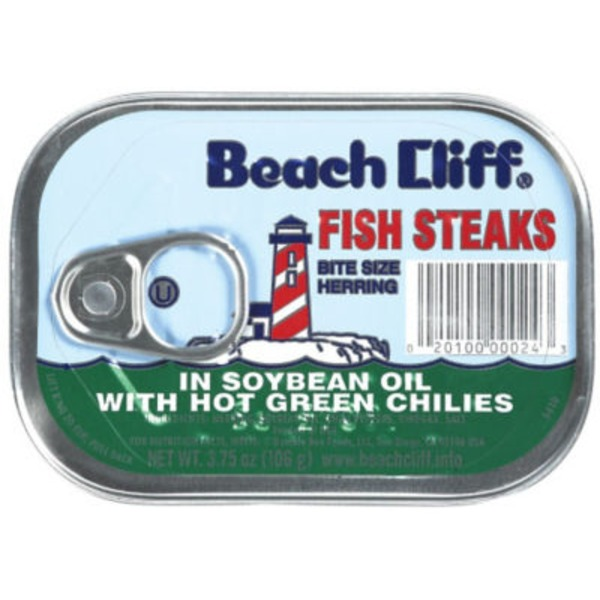 Beach Cliff In Soybean Oil with Hot Green Chilies Fish Steaks