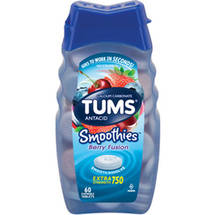 Tums Smoothies Antacid/Calcium Supplement Extra Strength