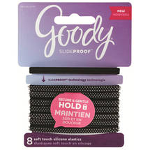 Goody SlideProof Spiky Soft Touch Hair Elastics Black