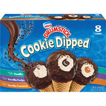 Nestle Drumstick Cookie Dipped 3 Flavor Variety 8 Cones