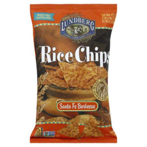 Lundberg Family Farms Santa Fe Barbecue Rice Chips MWO Rice Chips