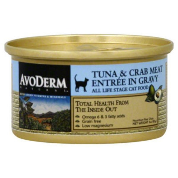 AvoDerm Tuna & Crab Meat Entree in Gravy Cat Food