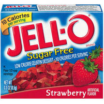 Jell-O Sugar Free Low Calorie Strawberry Gelatin Dessert