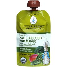 Peter Rabbit Organics Organic Kale Broccoli and Mango Fruit & Vegetable Snack