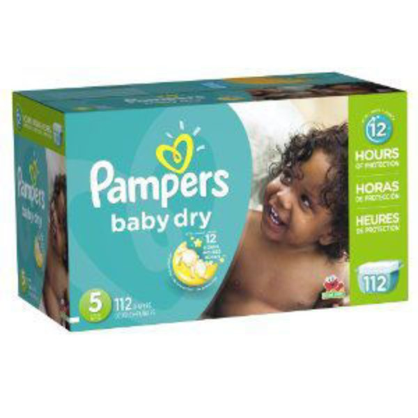 Pampers Baby Dry Pampers Baby Dry Diapers Size 5 112 Count Diapers