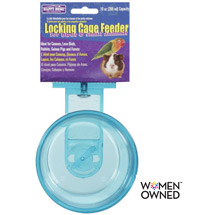 Happy Home Pet Products Locking Cage Feeder For Birds & Small Animals