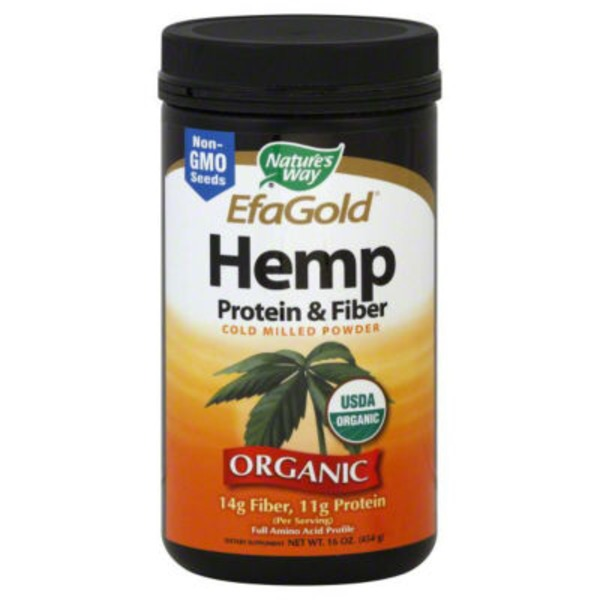 Nature's Way EfaGold Hemp Protein & Fiber Cold Milled Powder
