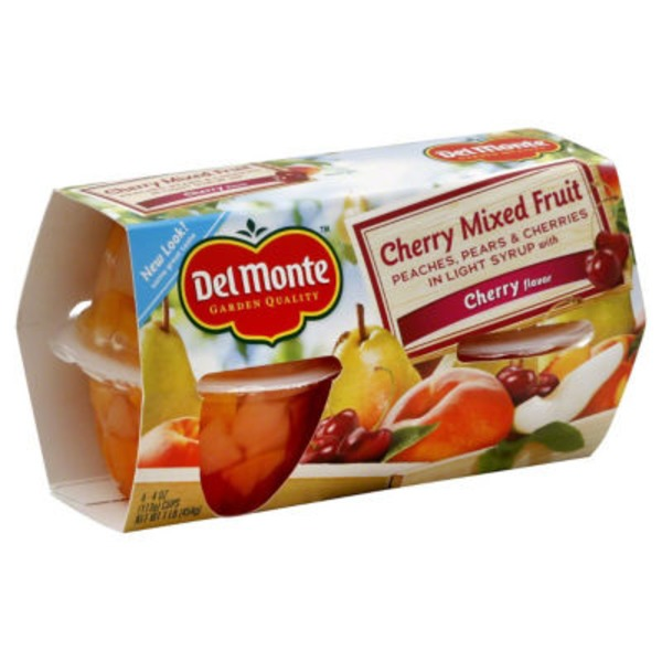 Del Monte Cherry Mixed Fruit Fruit Cups