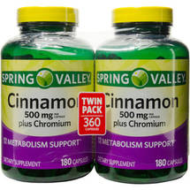 Spring Valley Cinnamon Plus Chromium Dietary Supplement Capsules