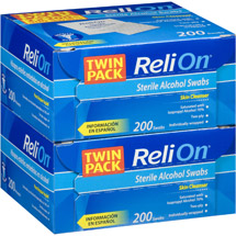 ReliOn Sterile Alcohol Swabs (Pack of 2)