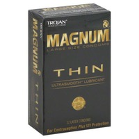 Trojan Large Size Thin Ultrasmooth Lubricant Condoms Magnum