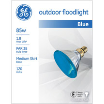 GE outdoor floodlight 85 watt blue PAR38 1-pack