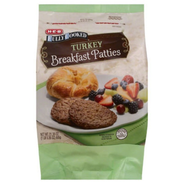 H-E-B Fully Cooked Turkey Breakfast Pattie