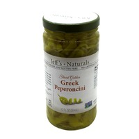 Jeff's Naturals Peperoncini, Greek, Sliced Golden