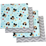 Disney Let's Go Mickey Mouse Flannel Blanket