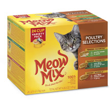 Meow Mix Market Select Wet Cat Food With Real Poultry Variety Pack Cups