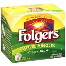Folgers Classic Decaf Coffee Singles