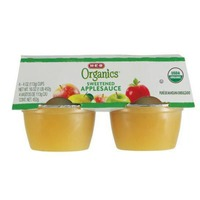 H-E-B Organics Sweetened Applesauce Cups
