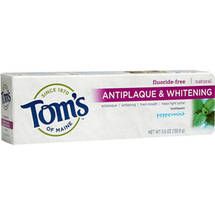 Tom's of Maine Antiplaque & Whitening Peppermint Fluoride-Free Toothpaste
