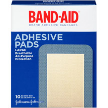 BAND-AID Tough-Strips Large Adhesive Pads