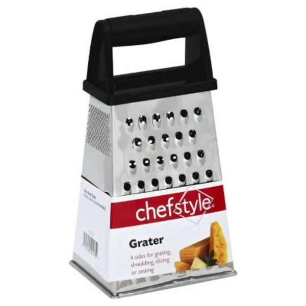 Chef Style Stainless Steel Grater Box With Handle