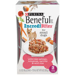 Purina Beneful Chopped Blends with Salmon Tomatoes Carrots and Wild Rice Dog Food Three 3 oz Cans