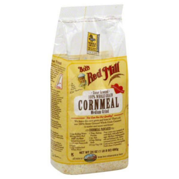 Bob's Red Mill Stone Ground 100% Whole Grain Cornmeal Medium Grind