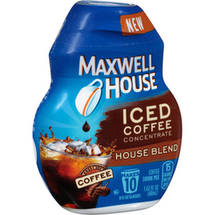 Maxwell House Iced Coffee Concentrate House Blend Instant Coffee