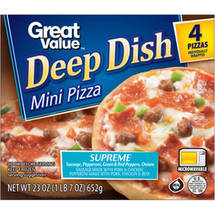Great Value Deep Dish Mini Pizza Supreme