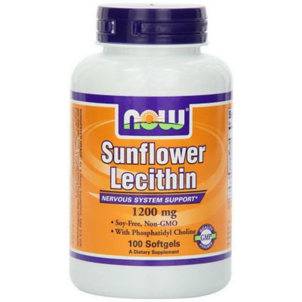 Now Sunflower Lecithin - 1200 Mg