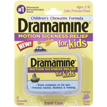 Dramamine Grape Flavor Motion Sickness Relief for Kids