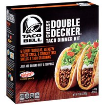 Taco Bell Cheesy Double Decker Taco Dinner Kit