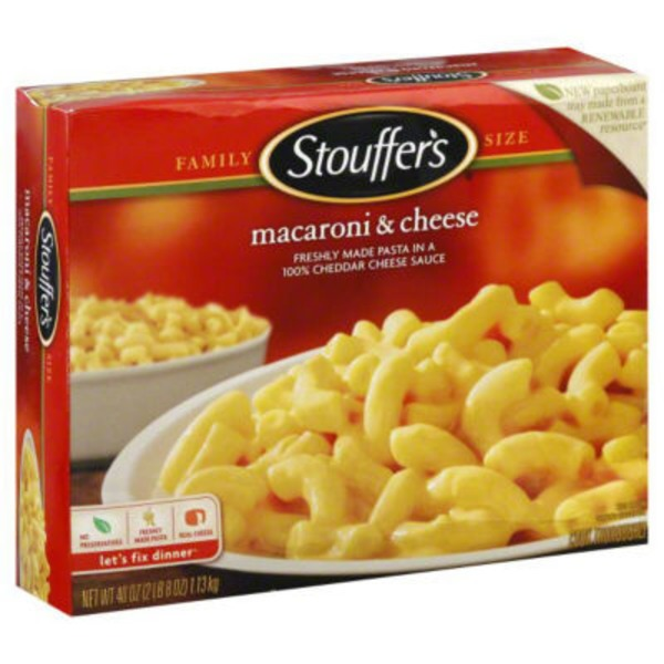 Stouffer's Family Size Freshly made pasta in a Real Cheddar cheese sauce Macaroni & Cheese