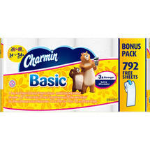 Charmin Basic 1-Ply Toilet Paper Double Rolls